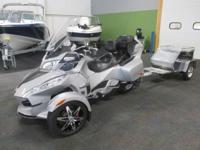 CLEAN 2010 CAN-AM SPYDER RT SM5 A&C WITH TRAILER AND