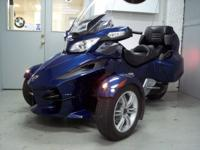 2010 CanAm Spyder, RT SE5, metallic blue with only 3515