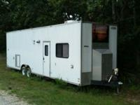 34' Converted Car Hauler with a huge 9 high interior,