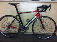 2010 Cervelo S1 53cm. Look keo pedals Fizik saddle