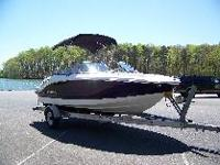 BOAT, WITH, 4.3 VOLVO PENTA GL ENGINE, 220 HORSEPOWER,