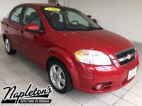 Recent Arrival! 2010 Chevrolet Aveo in Red, AUX