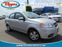Clean CARFAX. Cosmic Silver 2010 Chevrolet Aveo 1LT FWD
