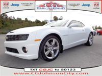 This white 2010 Chevrolet Camaro SS has everything you