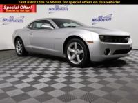 Clean CARFAX. Silver Ice Metallic 2010 Chevrolet Camaro