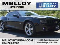Clean CARFAX. Black 2010 Chevrolet Camaro 2LT RS RWD