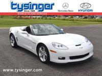 Arctic White Corvette Grand Sport Convertible RWD,