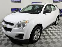 CARFAX One-Owner. White 2010 Chevrolet Equinox LS FWD