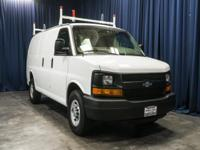 Clean Carfax Cargo Van with Shelves!  Options:  Tinted