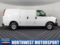 Clean Carfax Two Owner Cargo Van with Electric Hoist!