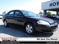Black 2010 Chevrolet Impala LS FWD 4-Speed Automatic