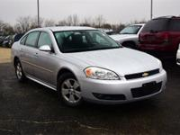 Silver 2010 Chevrolet Impala LT FWD 4-Speed Automatic