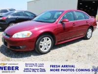 Recent Arrival! Red Jewel Chevrolet Impala  Odometer is