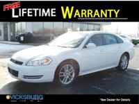 Options:  2010 Chevrolet Impala Ltz|White|Odometer Is