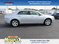 This 2010 Chevrolet Malibu LS in Silver is well