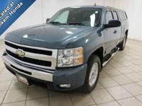 Four wheel drive, extended cab pickup truck. V8 engine,