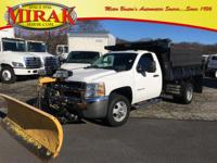 2 OWNERS, CLEAN CARFAX, 8FT FISHER PLOW, DUMP BODY,