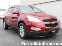 Red 2010 Chevrolet Traverse LT w/1LT AWD 3.6L V6 SIDI