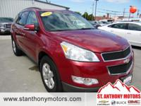 The Traverse has a V6, 3.6L high output engine. If you