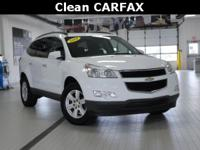 2010 Chevrolet Traverse LT White CARFAX One-Owner.