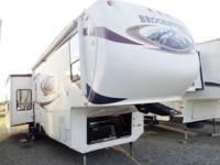 2010 Brookstone 366RE QUAD SLIDE 5th wheel travel