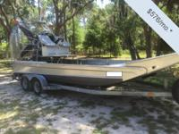 - Stock #078945 - This airboat has been used strictly