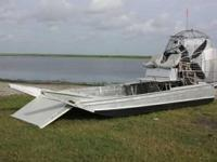 Like new with less than 70 hours. This custom airboat