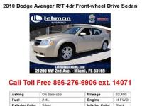 2010 Dodge Avenger R_T 4dr Front-wheel Drive Sedan