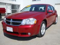 Options Included: N/A2010 Dodge Avenger R/T 4 dr, Red,