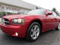 2010 Dodge Charger SXT in Inferno Red Crystal Clear