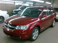 Red 2010 Dodge Journey SXT AWD 6-Speed Automatic 3.5L
