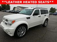 Options:  2010 Dodge Nitro Sxt|White|Leather Heated