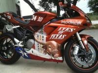 The Ultimate UT Longhorn Fan Custom 2010 Ducati 848
