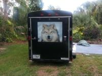 "7X12 ENCLOSED TRAILER. 6'6"" INTERIOR HEIGHT, TOOL"