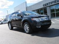 AWD, 2010 Ford EdgeSEL in Black, LEATHER SEATS, Cruise