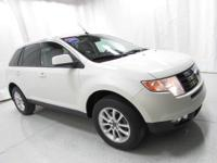 2010 Ford Edge SEL White Clean CARFAX. Back Up Camera.