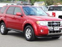 Clean CARFAX. Sangria Red Metallic 2010 Ford Escape