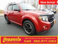 This 2010 Ford Escape XLT in Red features. Odometer is