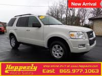 Clean CARFAX. This 2010 Ford Explorer XLT in White