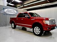 2010 FORD F150 SUPERCREW PLATINUM 4X4: RED CANDY