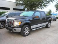 CARFAX One-Owner. Tuxedo Black 2010 Ford F-150 XLT 4WD