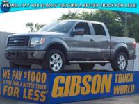 WWW.GIBSONTRUCKWORLD.COM*2010 Ford F150 FX4 Leather