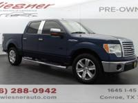 From work to weekends, this Blue 2010 Ford F-150 XLT