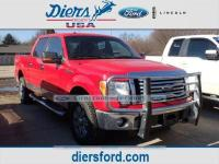 Clean CARFAX. Vermillion Red 2010 Ford F-150 4WD