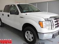 Clean CARFAX. WHITE 2010 Ford F-150 XLT 4WD 6-Speed