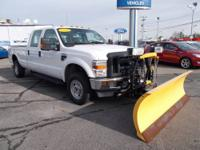 Nice Diesel Crew Cab with a 8' Fisher MM2 Snow Plow