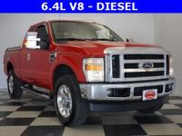 Options:  2010 Ford F-350Sd Lariat|Red|*Leather*|Power