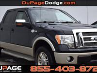 Clean CARFAX. Tuxedo Black 2010 Ford F-150 King Ranch