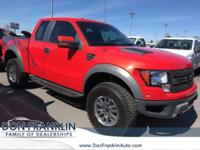 Clean CARFAX. Orange 2010 Ford F-150 SVT Raptor 4WD