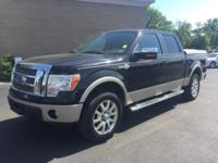 New Price! Clean CARFAX. Black 2010 Ford F-150 King